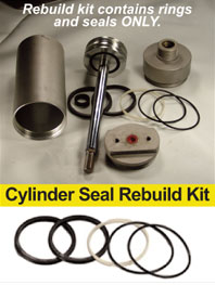 Rebuild Kit, includes ONLY rings and Seals