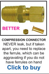 Compression Connector Air Fittings
