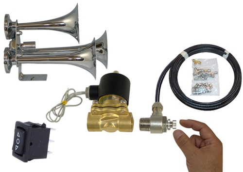 Train Horns Quality Air Horn Kits For Your Car Or Truck. Train Horns For Less. Wiring. Using Train Horn Wiring Diagram Steering Wheel At Scoala.co
