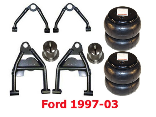 Airarm Fo9703 1997 2003 Ford F150 Lightning 2wd Lower Control Arms Bags Mount