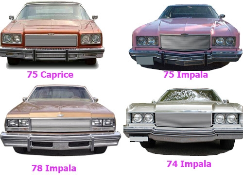 BIL-CH-93 Grille 1978-1978 Chev IMPALA Insert Grill & lower 3Pc