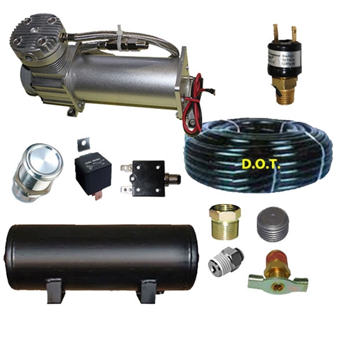 DC480 1/3hp Compressor 15' airhose 3 gal tank Pres-Switch,Switch,Circuit  Breakr 1 1/4