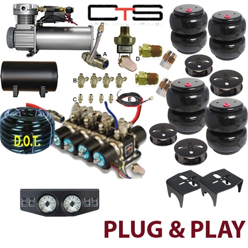 Air Bag Suspension Kits >> Fbs Bui 18 Kit3 Buick Plug And Play Fbss Complete Air Suspension Kits