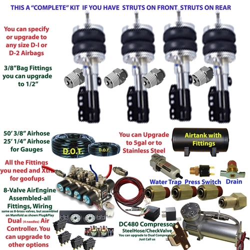 FBS-Mercedes-Benz-765 Mercedes Plug and Play FBSS Complete Air Suspension  Kits