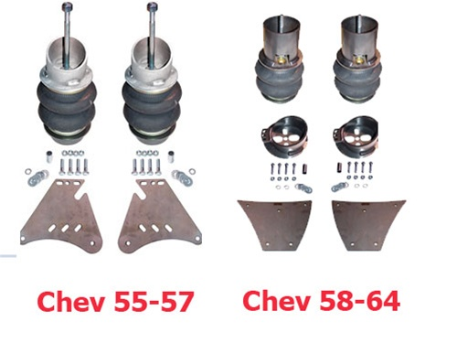 FBX-F-CHE-59A 1955-1957 Chev Impala Belair Biscayne Front Air Suspension  ride kit