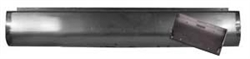 A 1980 to 1996 Ford F150 Fabricated  Rear Steel Rollpan License Angled Right