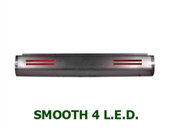 A 1980 to 1996 Ford F150 Fabricated  Rear Steel Rollpan Smoothy with 4 LEDs