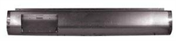 A 1999 to 2006 Chevrolet GMC C1500/2500/3500 Rear Steel Rollpan With License Left Straight