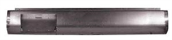 1997 to 2004 Nissan Frontier Fabricated  Rear Steel Rollpan with License Straight Left