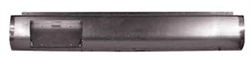 1987 to 1995 Nissan Hardbody Fabricated  Rear Steel Rollpan with License straight Left