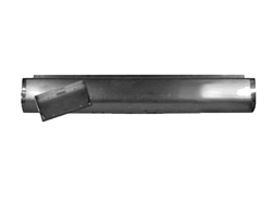 A 1982 to 1993 Chevrolet S10 S15 Rear Steel Rollpan FABRICATED Smoothy with License Angled left