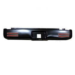 A 2004 to 2015 Ford F150 Rear Steel Rollpan with License and 4 LEDs