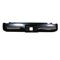 A 2004 to 2015 Ford F150 Rear Steel Rollpan with License and Billet
