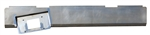 1983 TO 1993 Mazda Pickup Rear Steel Rollpan FABRICATED with License Angled Left